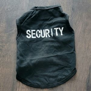 Black Security Vest/Sleeveless Shirt Sz S NWOT
